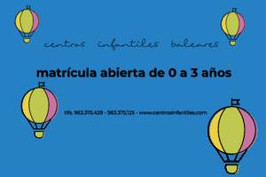 matrícula abierta en centros infantiles en Valencia para el curso 2020-2021