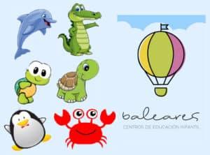 Logo y mascotas centros infantiles